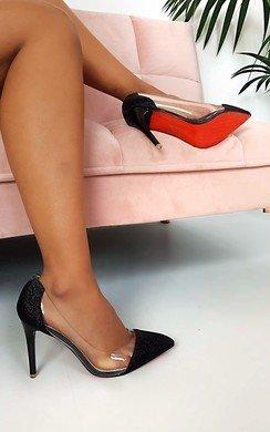 View the Mindi Glitter Perspex Court Heels  online at iKrush