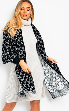 View the Minni Pattern Wrap Knit Cape online at iKrush