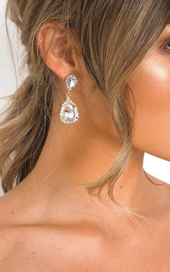 View the Minnie Diamante Drop Earrings  online at iKrush