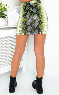 View the Minnie Faux Leather Skirt  online at iKrush