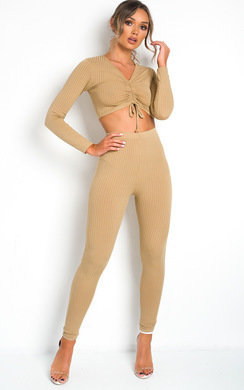 View the Mira Ribbed Lounge Co-ord online at iKrush