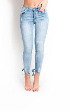 View the Misha Lace Up Corset Mid Rise Jeans  online at iKrush