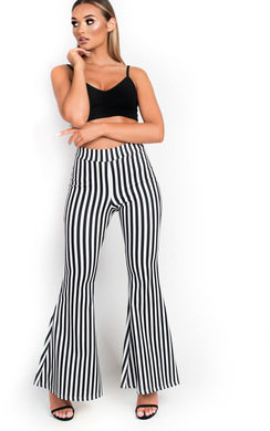 View the Mishti High Waist Stretch Flared Trousers  online at iKrush