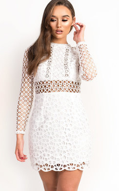 View the Mishti Mesh Cut Out Bodycon Dress online at iKrush