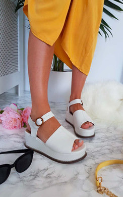 View the Miya Faux Leather Flatform Sandals online at iKrush