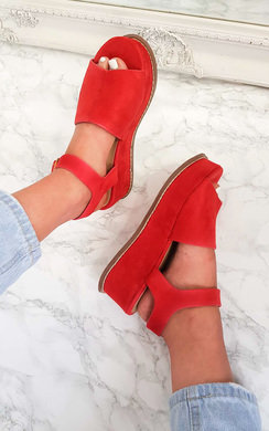 View the Miya Faux Suede Flatform Heel online at iKrush