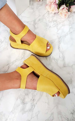 View the Miya Faux Suede Flatform Sandals online at iKrush