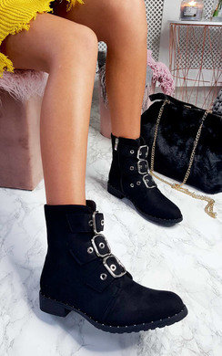 View the Mollie Buckle Ankle Boots  online at iKrush