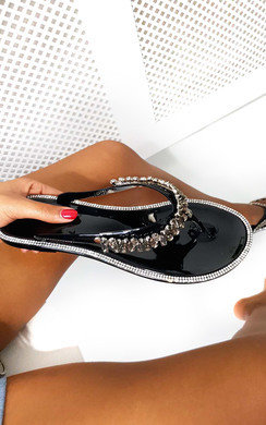 View the Molls Diamante Flip Flop Sandals online at iKrush
