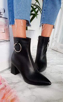 View the Mona Faux Leather Ring Ankle Boots online at iKrush