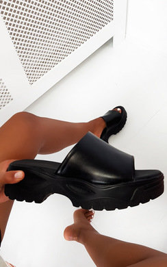 View the Monikh Chunky Slip On Sandals online at iKrush