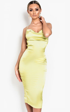View the Monikh Satin Backless Midi Dress online at iKrush