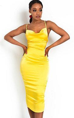 View the Monikh Satin Backless Midi Dress online at iKrush