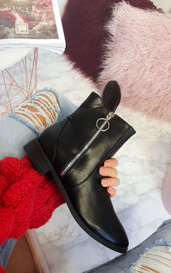 View the  Nadia Side Zip Up Ankle Boots online at iKrush