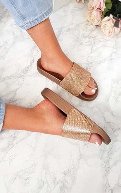 View the Naima Diamante Sliders online at iKrush