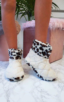 View the Nala Leopard Print Slippers online at iKrush