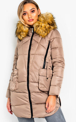 View the Nancy Padded LongLine Hooded Jacket online at iKrush