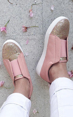 View the Nanna Open Slip On Glitter Trainers online at iKrush