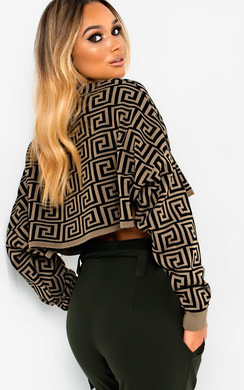 View the Naya Batwing Sleeve Cropped Jumper  online at iKrush