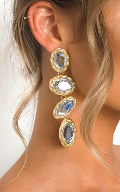 View the Neeka Multi Jewel Drop Earrings  online at iKrush