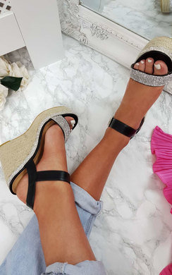 View the Neela Diamante Wedged Heels online at iKrush