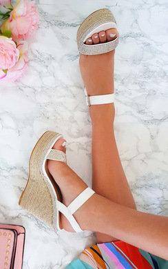 View the Neela Diamante Wedged Heels online at iKrush