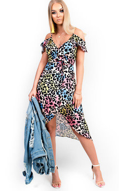View the Neela Printed Midi Dress online at iKrush