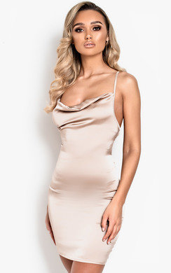 View the Neesa Satin Backless Mini Dress online at iKrush