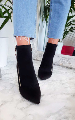 View the Nelly Lycra Heeled Ankle Boots online at iKrush