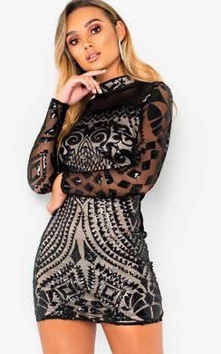 View the Nene Embellished Bodycon Dress online at iKrush
