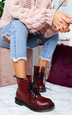 View the Newb Lace Up Biker Boots online at iKrush