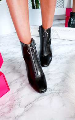 View the  Nina Zip Up Heeled Ankle Boots online at iKrush