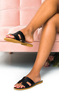 View the Nora Faux Leather Slip On Sandals online at iKrush