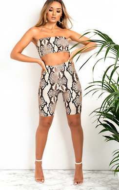 View the Nora Pedal Short Stretch Co-Ord  online at iKrush