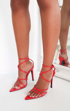 View the Nora Strappy Pointed High Heels  online at iKrush
