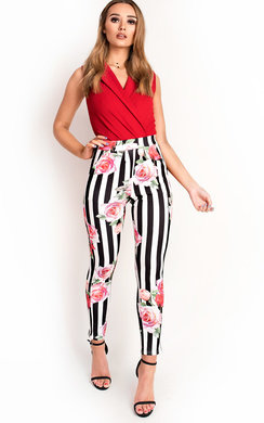 View the Norie Floral Slim Trousers online at iKrush