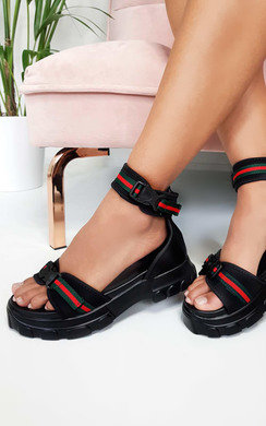 View the Nova Double Buckle Sport Chunky Sandals online at iKrush