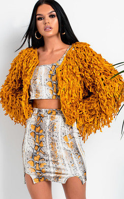 View the Nova Shaggy Knit Cropped Jacket  online at iKrush