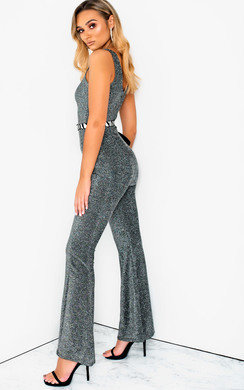 View the Nova Wide Leg Shimmer Jumpsuit online at iKrush