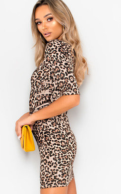 View the Nya Faux Suede Leopard Print Dress online at iKrush
