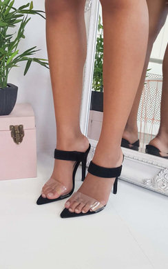 View the Nyla Barely There Perspex Heels online at iKrush
