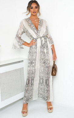 View the Nyla Printed Floaty Maxi Dress online at iKrush