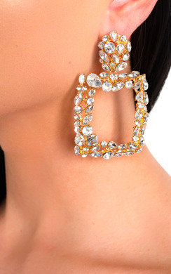 View the Nyla Statement Jewel Drop Earrings  online at iKrush