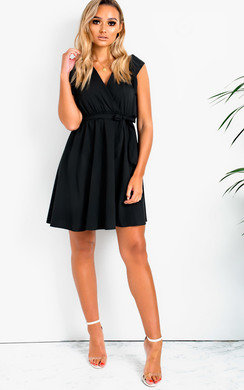 View the Ola Frill Tie Waist Dress online at iKrush