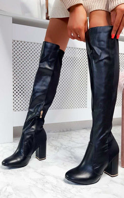 View the Olivia Knee High Heeled Boots online at iKrush