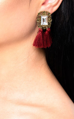 View the Ora Jewelled Tassel Earrings  online at iKrush