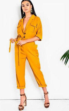 View the Otto Tie Waist Utility Jumpsuit online at iKrush