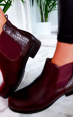 View the Paige Faux Leather Snake Skin Ankle Boots online at iKrush
