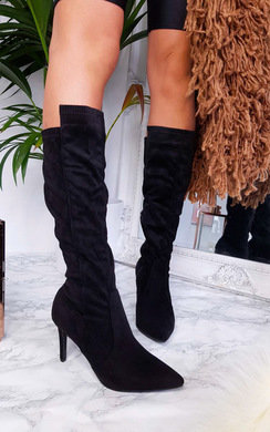 View the Pami Heeled Knee High Boots online at iKrush