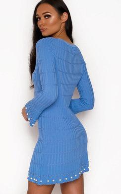 View the Paris Ribbed Pearl Dress online at iKrush